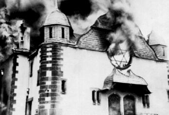e Burning Synagoge Kristallnacht 1938